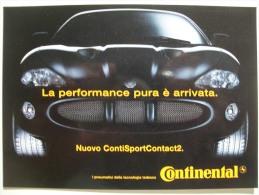 PNEUMATICI CONTINENTAL Pubblicita´ - Publicité