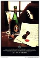 Reklame Werbeanzeige  -  Sekt  Fürst Von Metternich ,  Ein Sekt Ist Immer So Gut Wie Sein Wein  ,  Von 1972 - Andere Sammlungen