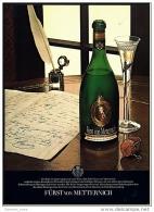Reklame Werbeanzeige  -  Sekt  Fürst Von Metternich ,  Ein Sekt Ist Immer So Gut Wie Sein Wein  ,  Von 1974 - Andere Sammlungen