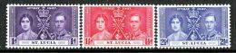 St. Lucia  107-9  *  CORONATION - St.Lucia (1979-...)