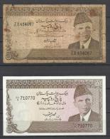 PAKISTAN . LOT DE 2  BILLETS . - Pakistan