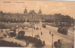Amsterdam  Centraal Station , Tram           Scan 4970 - Amsterdam