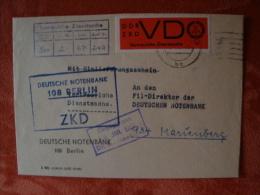 DDR: ZKD, Deutsche Notenbank 108 Berlin Mit Dinstmarke Mi-Nr 3 ! - Service