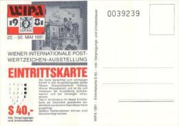 Östeerreich / Austria - WIPA 1981 (s467) - Eintrittskarten