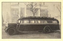 """63 - Dallet - Autobus """"René Giron"""" à Dallet (Puy-de-Dôme) Carte Commerciale Ancienne Double Format (10 X 14 Cm) - Non Classés"""