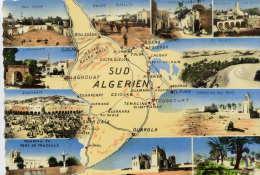 ALGERIE  Sud Algérien , Contours Géographiques , Vues Multiples    . 105x150 Dentelée , Glaçée - Algeria