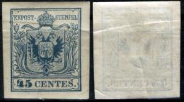 Lombardo Veneto-0045q - Sassone N.22(+) Con Varietà: Piega Di Carta Durante La Stempa. - Lombardo-Veneto