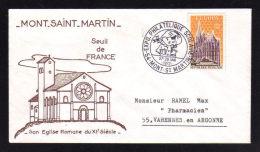 54 - MEURTHE ET MOSELLE / MONT ST MARTIN Exposition Philatélique Scolaire 1972 - Poststempel (Briefe)