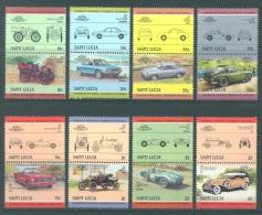 SAINT LUCIA  - 1984 - MNH/*** LUXE - AUTO (II) PANHARD FORD ASTON CHRYSLER - Mi 696-711 Yv 684-699  -   Lot 8237 - St.Lucie (1979-...)