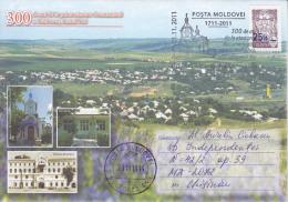 MOLDOVA ;  MOLDAVIE ;  MOLDAWIEN  ; MOLDAU ; 2011 ; 300 Years- Bulboaca, Anenii Noi ;  Special Cancell.Used Cover. - Moldova