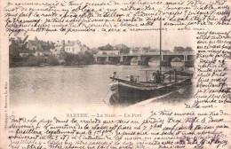72 LA SUZE LE PORT  CARTE PRECURSEUR CIRCULEE 1902 - La Suze Sur Sarthe