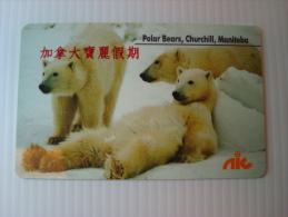 Canadian Phonecard:  Polar Bears, Churchill, Manitoba - Phonecards