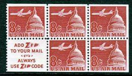 U.S. C64b  Booklet Pane  Slogan 3   ** - Air Mail