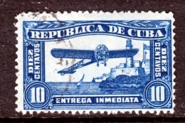 C Uba E 5     (o)   AEROPLANE  No Wmk. - Express Delivery Stamps