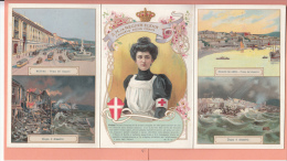 Königin Elena Von Italien Geb. Montenegro Erdbeben 1908 Messina Reggio Calabria RAR 3 Teil. AK - Case Reali