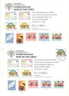 UNO Genève 1979 2 FDC Nr. 83 International Year Of The Child L´Enfant Auf Erinnerungsblatt Souvenir Card - Genf - Büro Der Vereinten Nationen