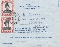 Brunei 1969 Airletter To Australia Used - Brunei (1984-...)