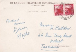 Italy 1948 Postcard Sent To Australia - Italy