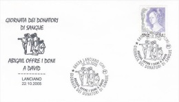 Italy 2003 Blood Donors Day Souvenir Cover - Italy