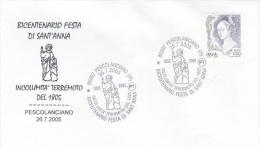Italy 2005 St Anna Bicentenary Souvenir Cover - Italy