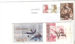 """ENVELOPPE AVEC TIMBRE 1980 """"LOUIS LE NAIN FRANCE 1980""""OBLITERE - France"""