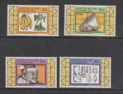 Norfolk Island 1986 Early Maori Occupation Set 4 MNH - Isla Norfolk