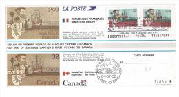 Emission Commune Jacques Cartier France Canada - 1980-1989