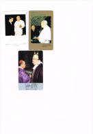 JAPON : Pape Jean-Paul II. 3 Télécartes Usagées En Parfait état. - Personaggi
