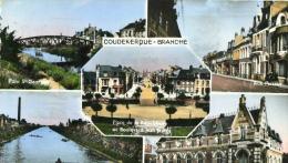 COUDEKERQUE-BRANCHE - NORD  (59) - PEU COURANTE CPSM MULTIVUES DE 1962. - Coudekerque Branche
