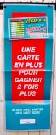 FDJ LA FRANCAISE DES JEUX  AFFICHE PUBLICITAIRE NEUVE PLIEE DIMENSION 80 X 30 Cm  POKER PLUS - BINGO - BLACK JACK. - Affiches