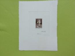France 1955 Yv 1027 épreuve D´ Artiste: PHILIPPE-AUGUSTE ROI DE FRANCE. Signé Par L´ Artiste Munier Et Muller. SUP. - Artist Proofs