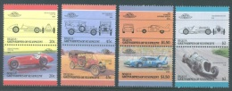 BEQUIA - 1985 - MNH/*** LUXE  - AUTO (IV) ALFA CHADWICK PLYMOUTH NAPIER   - Mi 152-159 - Lot 8263 - St.Vincent & Grenadines