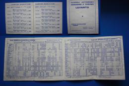 ORARIO FERROVIARIO DELLA TRATTA GENOVA LEVANTO LA SPEZIA VALIDO DAL 28 MAGGIO AL30 SETTEMBRE 1972 - Altri