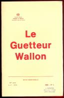 Le Guetteur Wallon - 1982 - N°1 - Au Sommaire: Voir Photo 2. - Belgium