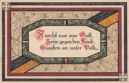 DR Propagandakarte 1.WK Furcht Nur Vor Gott  Landsturm Inf. Bataillon Barmen - Deutschland