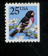 225889604 USA 1988 ** MNH SCOTT 2284 Grosbeak Rechts Ongetand Bird - United States