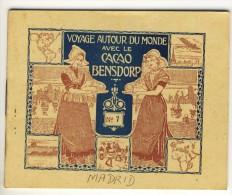 Voyage Autour Du Monde Avec Le Cacao Bensdorp. MADRID. Petit Livret De 16 Photos Format 10.2x8.2 - Vieux Papiers