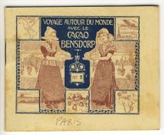 Voyage Autour Du Monde Avec Le Cacao Bensdorp. PARIS. Petit Livret De 16 Photos Format 10.2x8.2 - Vieux Papiers