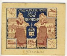 Voyage Autour Du Monde Avec Le Cacao Bensdorp .STOCKHOLM- CHRISTIANA . Petit Livret De 16 Photos Format 10.2x8.2 - Vieux Papiers