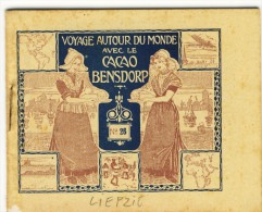 Voyage Autour Du Monde Avec Le Cacao Bensdorp LIEPZIG, HANOVRE Et BREME. Petit Livret De 16 Photos Format 10.2x8.2 - Vieux Papiers