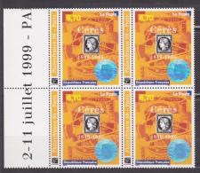 N° 3258 Philexfrance99:Compositio N Avec Le Timbre N°3 Sur Timbre Et Le Visage De Cérès En Hologramme: Bloc De 4 Timbres - Francia