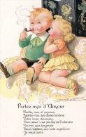 ILLUSTRATEUR ENFANTS MAUZAN HISTOIRE D'AMOUR PARLEZ MOI D'AMOUR ENFANT QUI FUME UNE PIPE - Mauzan, L.A.