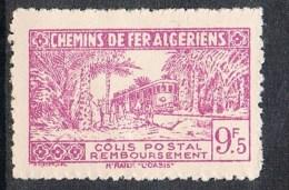 """ALGERIE COLIS POSTAL N°154 N**  Variétés Sans Surcharge """"contrôle Des Recettes"""" Et Noix De Coco Premier état  RARE - Algérie (1924-1962)"""