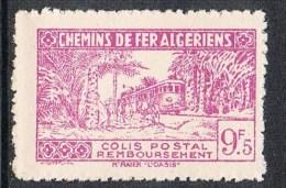 """ALGERIE COLIS POSTAL N°154 N**  Variétés Sans Surcharge """"contrôle Des Recettes"""" Et Noix De Coco Second état RARE - Algérie (1924-1962)"""