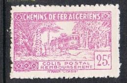 """ALGERIE COLIS POSTAL N°158 N**  Variétés Sans Surcharge """"contrôle Des Recettes"""" Et Noix De Coco Second état RARE - Algérie (1924-1962)"""