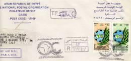 Carta Certificada De Egipto Año 1999, Cover, Letter, Egypt, Agypten - Égypte