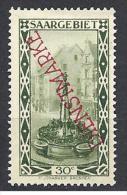 SARRE SERVICE YVERT N� 20 / MAURY N� 16 TIRAGE 1927 VARIETEE TRAIT DEVANT LE S  NEUF* TTB