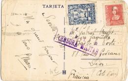 4053. Postal SEVILLA 1938, CENSURA Militar Y Viñeta Local Guerra - 1931-Aujourd'hui: II. République - ....Juan Carlos I