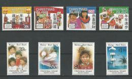 Christmas: 281/ 284 + 289/ 292 ** - Christmas Island