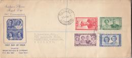 Basutoland FDC Scott #35-#38 Set Of 4 Royal Visit - 1933-1964 Crown Colony